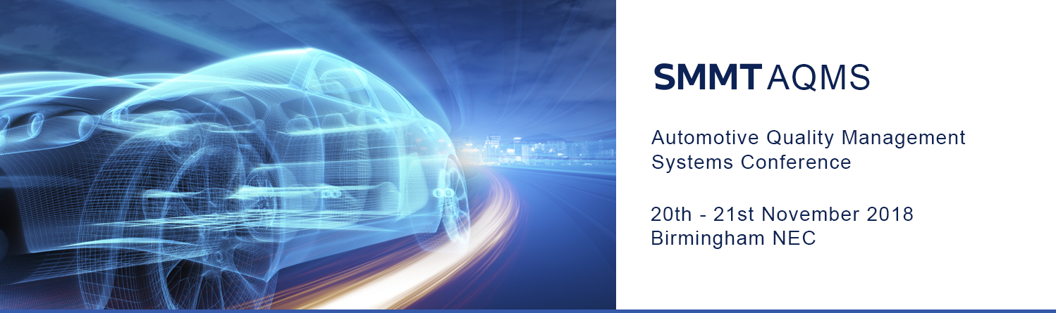 The SMMT AQMS conference is set to take place on 20 November at the NEC in Birmingham