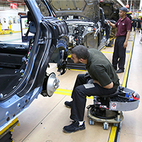 UK car manufacturing falls in February, with double-digit decline in domestic demand