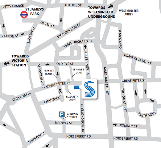 SMMT Great Peter Street office area map