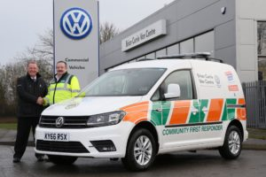 6bf661032b Volkswagen Van Centre supports ambulance charity - SMMT