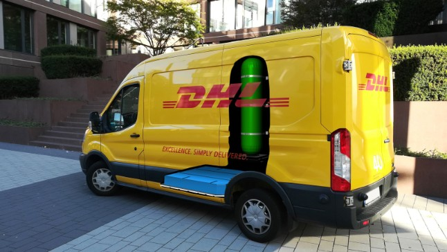 Fuel cell panel van unveiled by DHL Express and StreetScooter at
